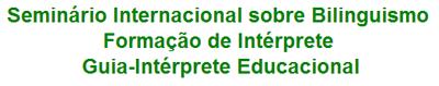 Seminário Internacional Bilinguismo
