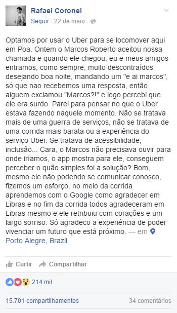 Uber - Surdos